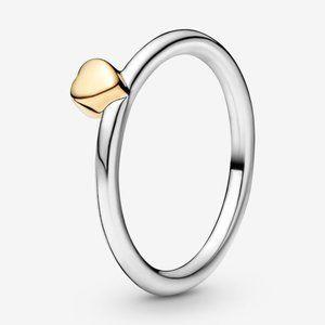 🍓Pandora Polished Heart Puzzle Ring
